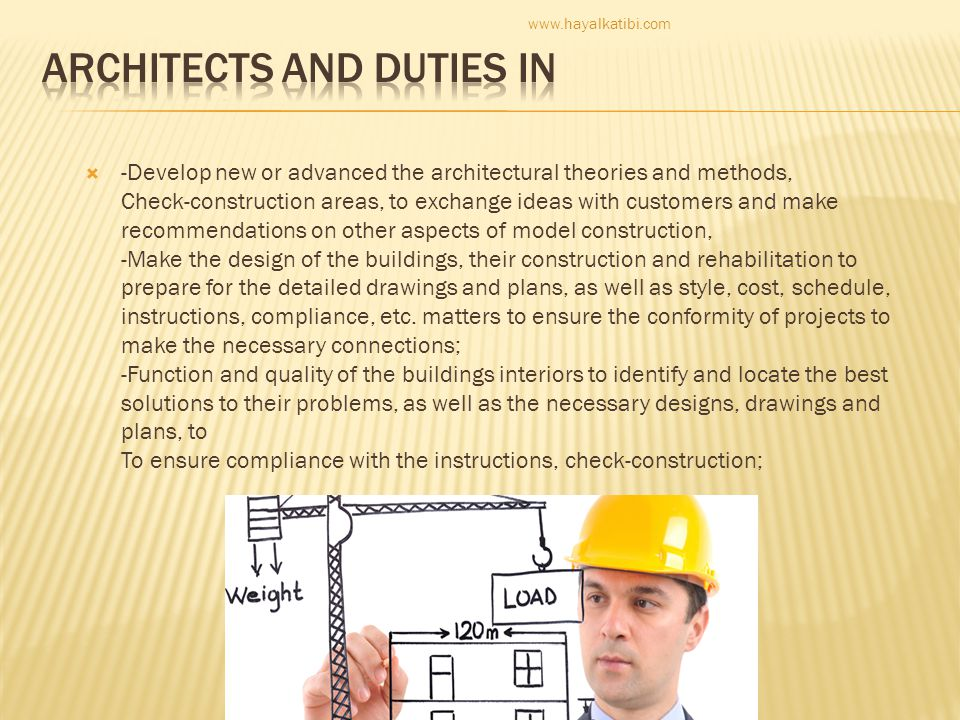 ARCHITECTS AND DUTIES IN