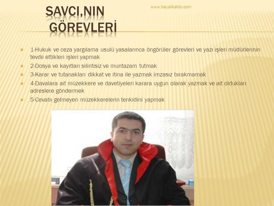 SAVCI,NIN GÖREVLERİ www.hayalkatibi.com.