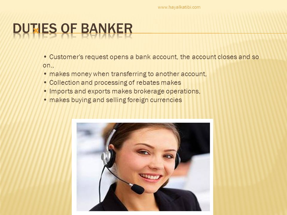 duties of banker.