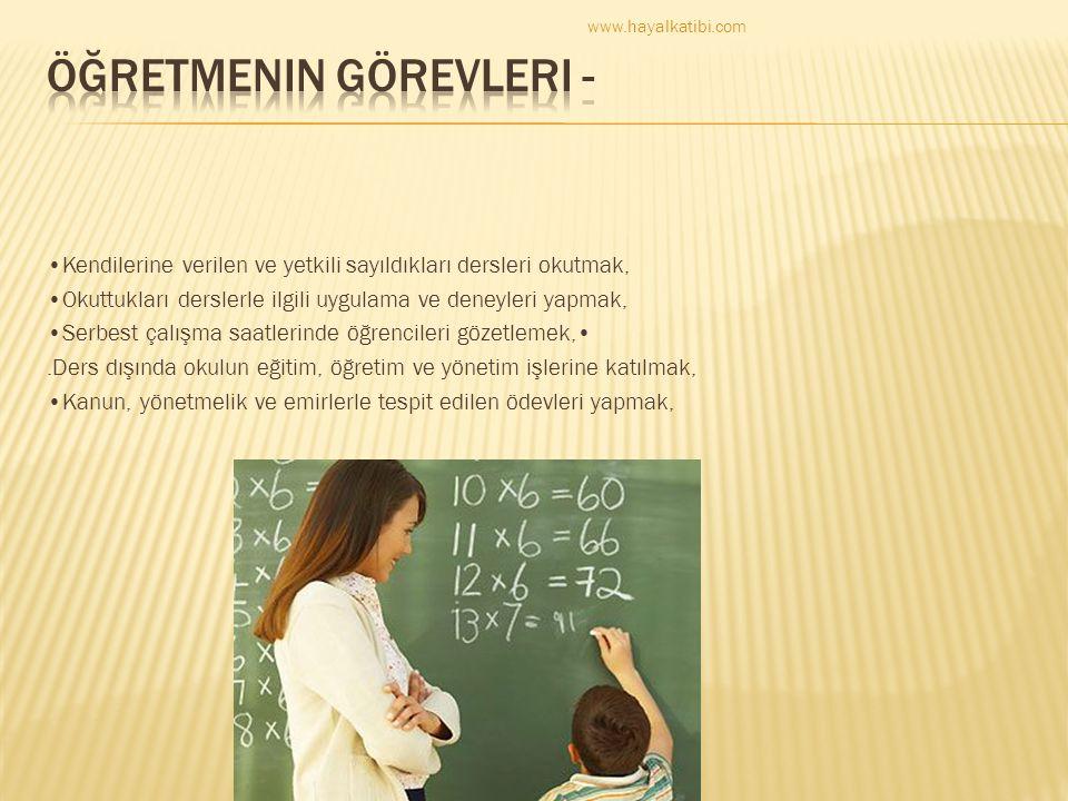 Öğretmenin Görevleri -