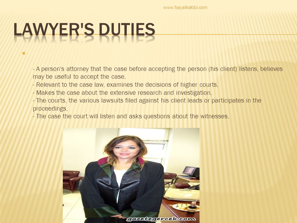 www.hayalkatibi.com lawyer s duties.