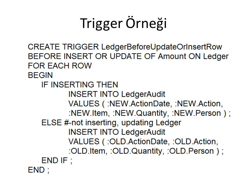 Trigger Örneği