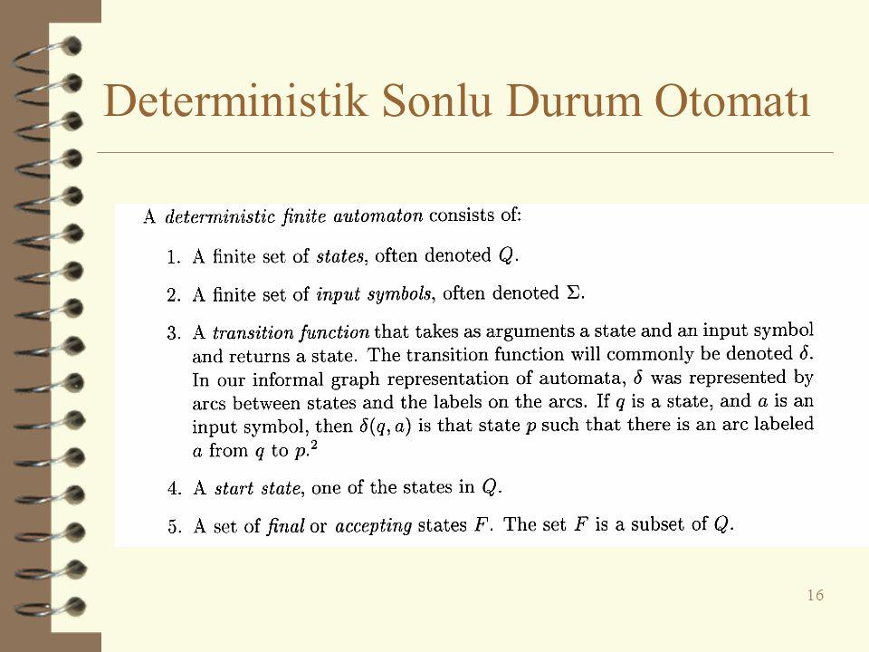 Deterministik Sonlu Durum Otomatı