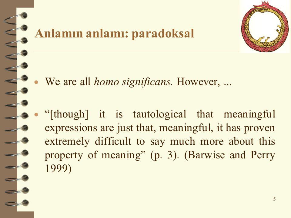 Anlamın anlamı: paradoksal
