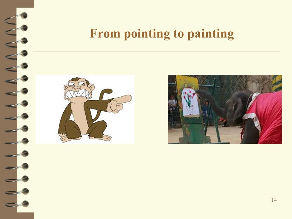 From pointing to painting