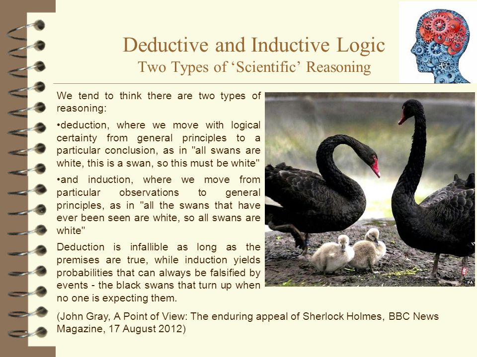 Deductive and Inductive Logic Two Types of 'Scientific' Reasoning