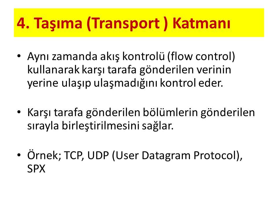 4. Taşıma (Transport ) Katmanı