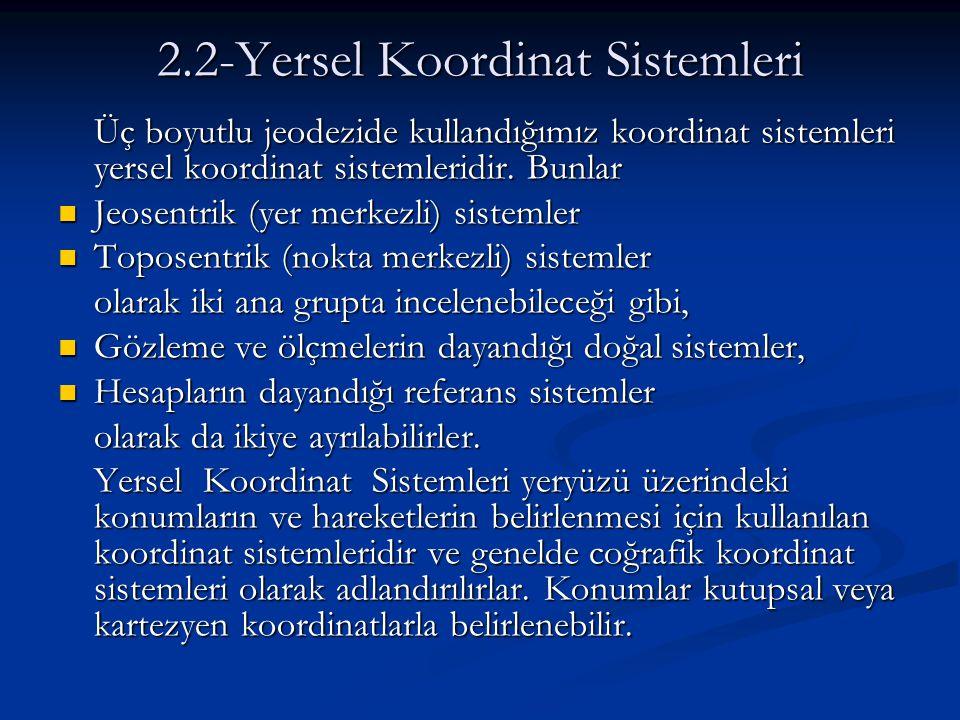 2.2-Yersel Koordinat Sistemleri