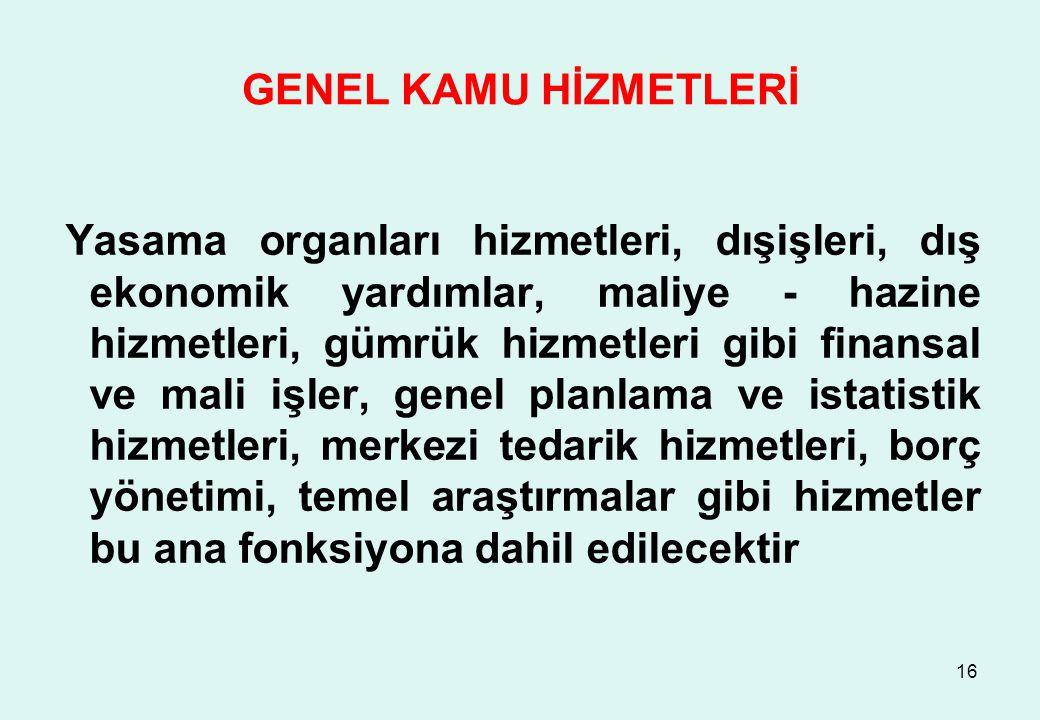 GENEL KAMU HİZMETLERİ