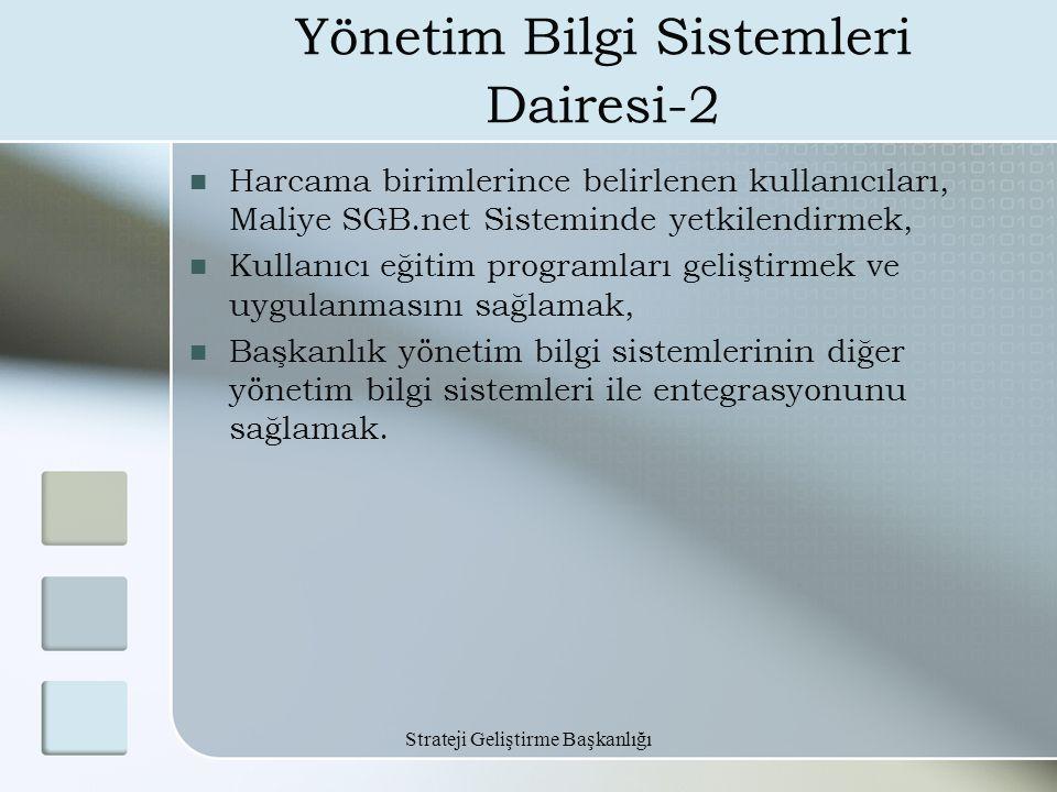 Yönetim Bilgi Sistemleri Dairesi-2