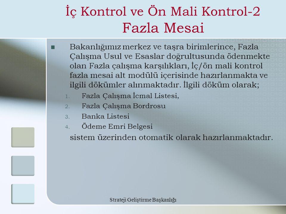 İç Kontrol ve Ön Mali Kontrol-2 Fazla Mesai