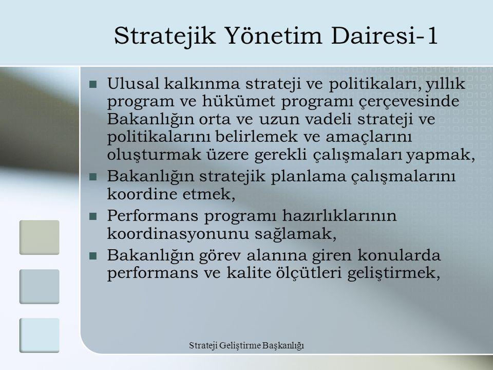 Stratejik Yönetim Dairesi-1