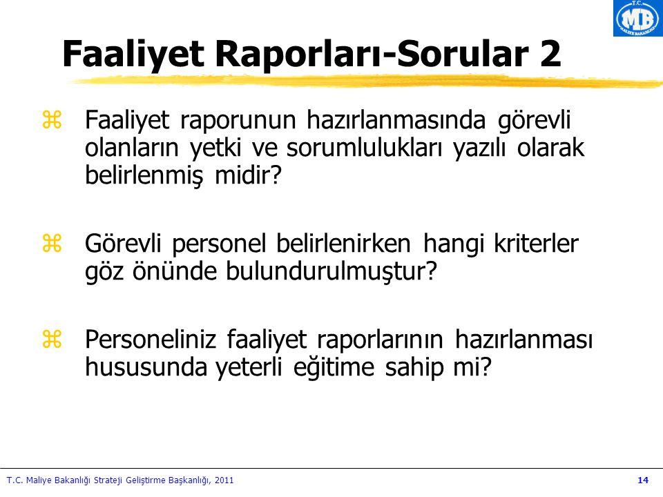 Faaliyet Raporları-Sorular 2