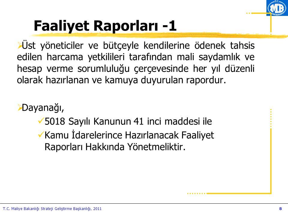 Faaliyet Raporları -1