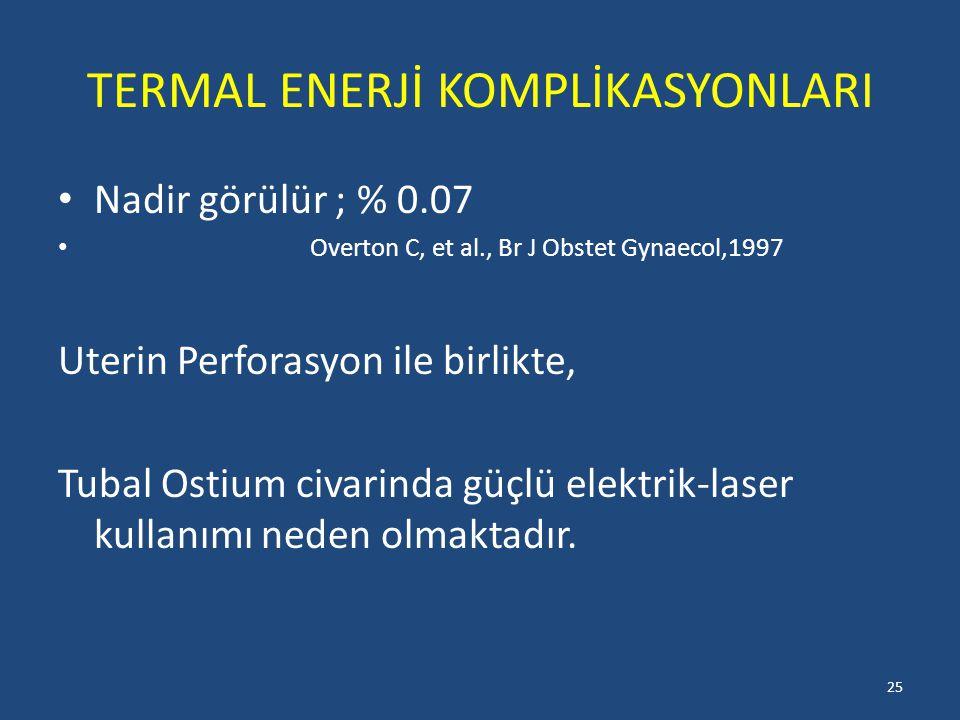 TERMAL ENERJİ KOMPLİKASYONLARI