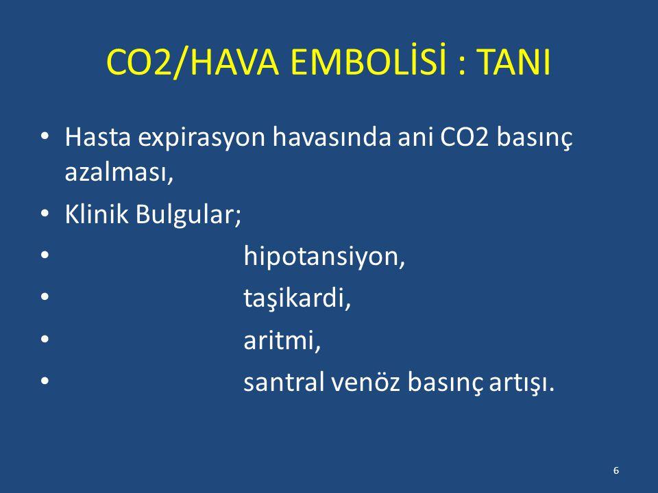 CO2/HAVA EMBOLİSİ : TANI
