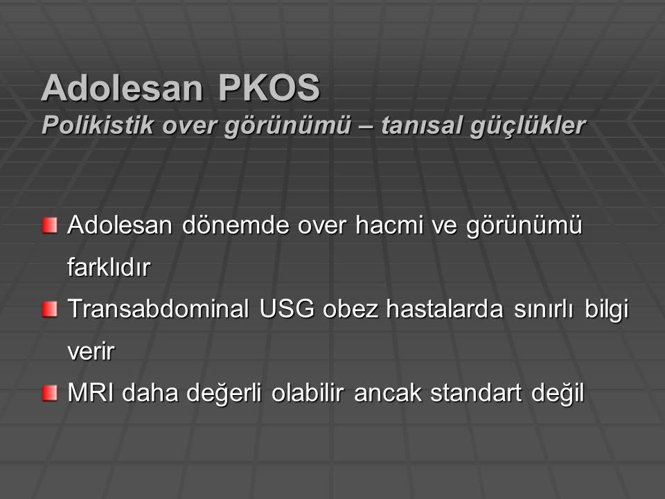 Adolesan PKOS Polikistik over görünümü – tanısal güçlükler