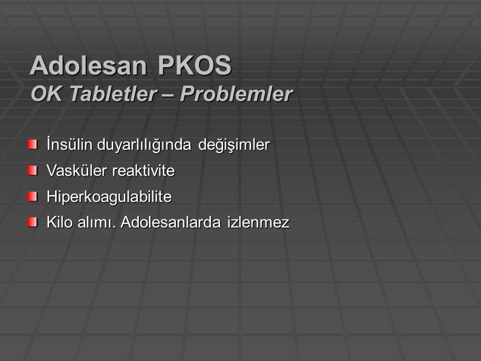 Adolesan PKOS OK Tabletler – Problemler