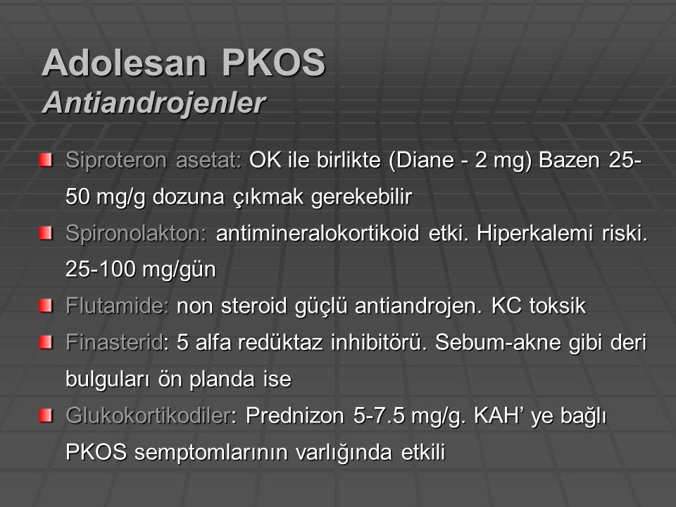 Adolesan PKOS Antiandrojenler