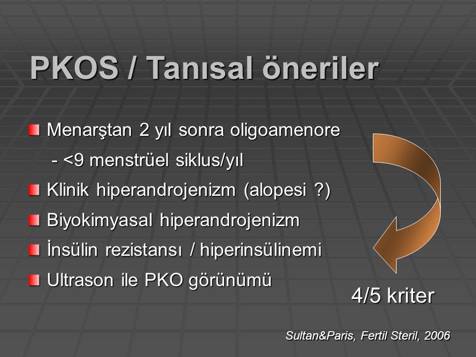 PKOS / Tanısal öneriler