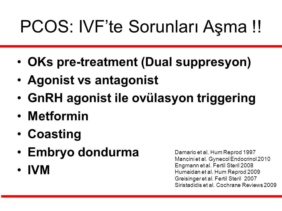 PCOS: IVF'te Sorunları Aşma !!
