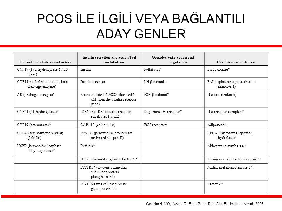 PCOS İLE İLGİLİ VEYA BAĞLANTILI ADAY GENLER