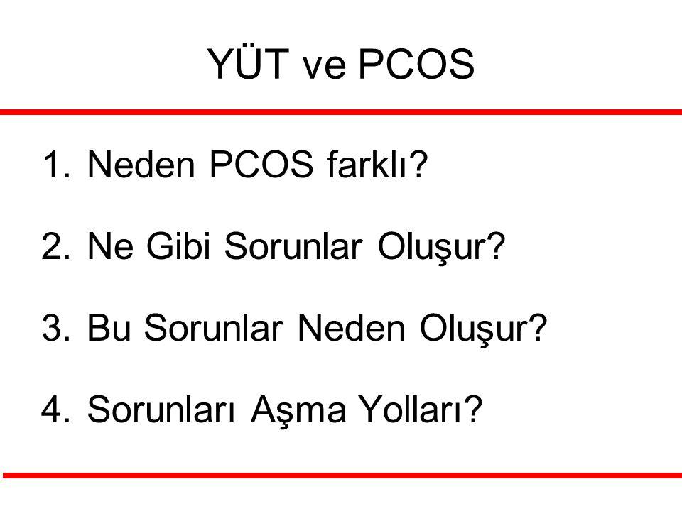 YÜT ve PCOS Neden PCOS farklı Ne Gibi Sorunlar Oluşur