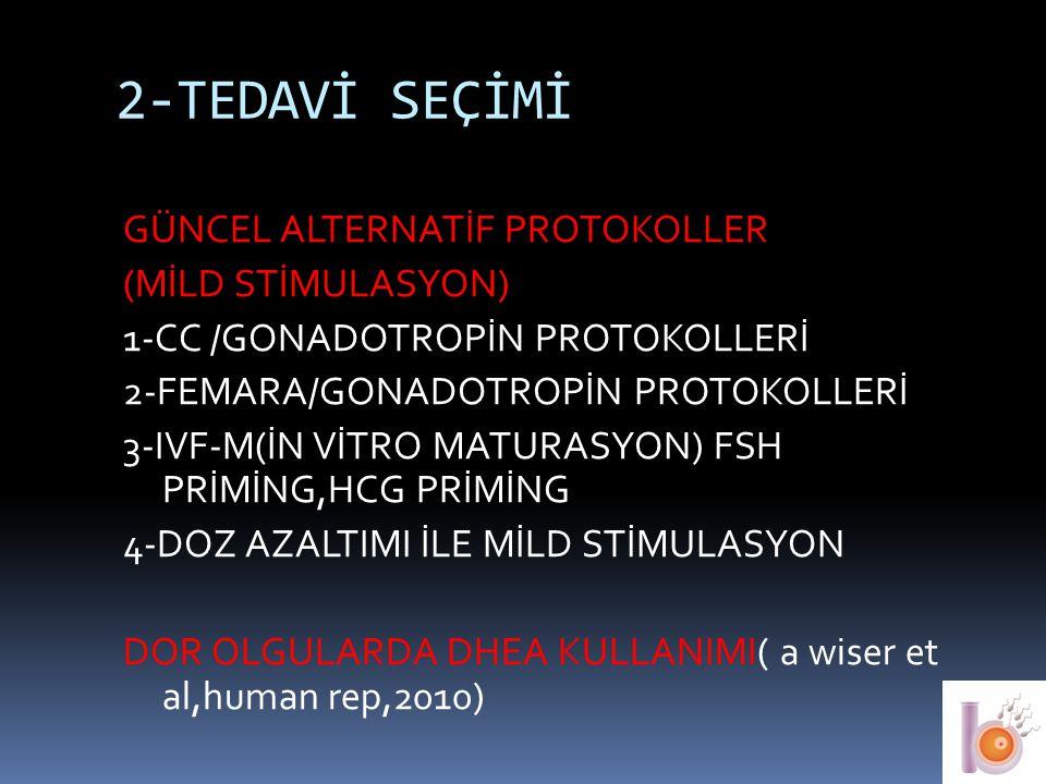 2-TEDAVİ SEÇİMİ GÜNCEL ALTERNATİF PROTOKOLLER (MİLD STİMULASYON)