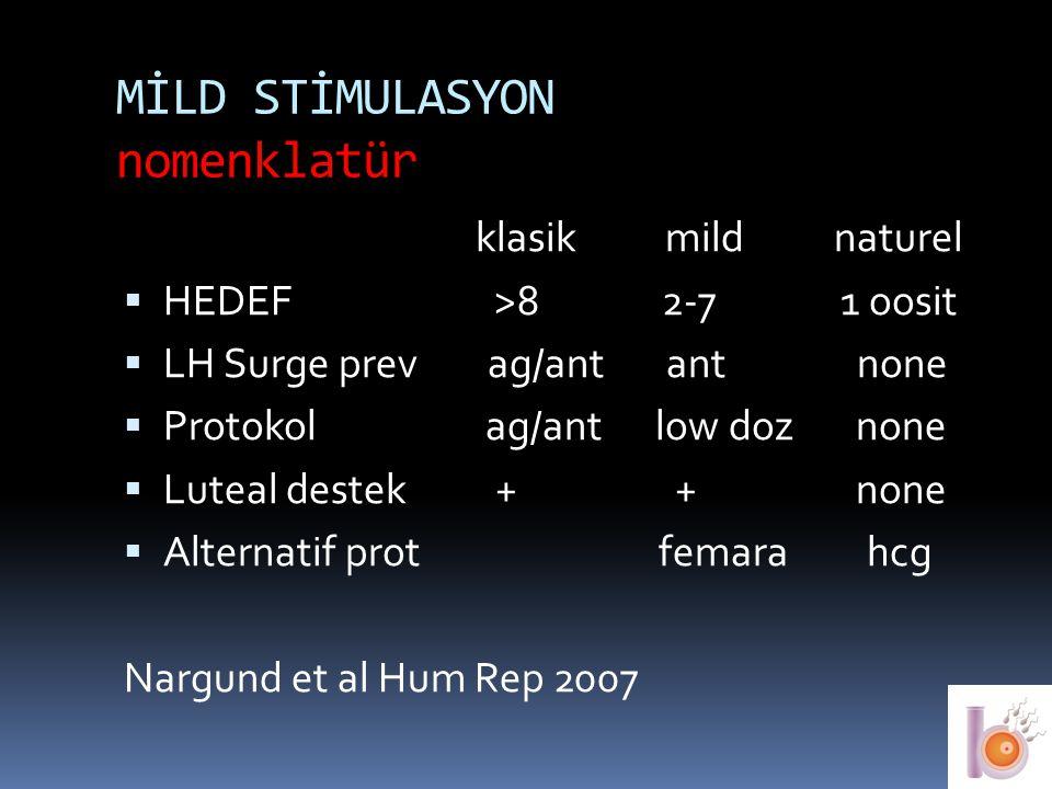 MİLD STİMULASYON nomenklatür