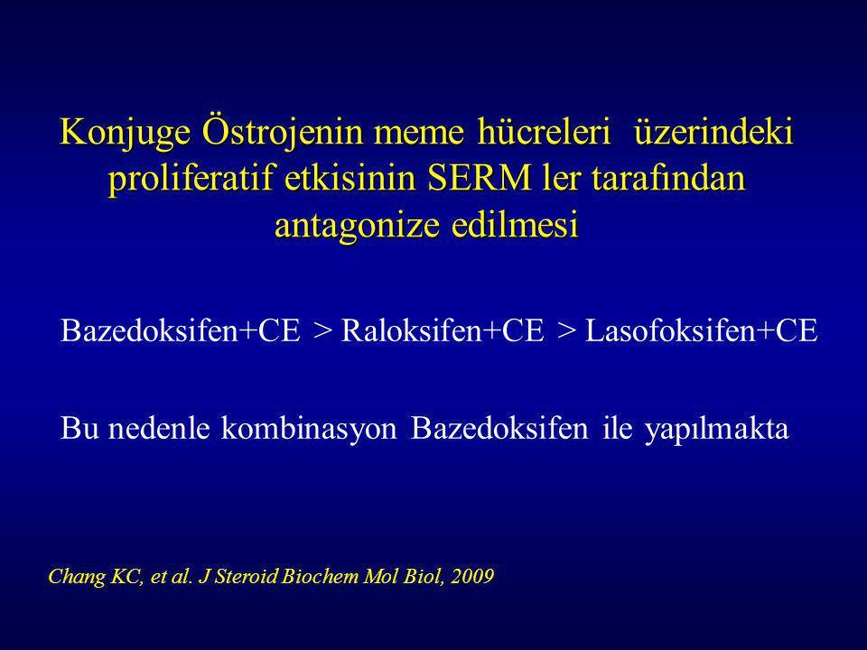 Konjuge Östrojenin meme hücreleri üzerindeki proliferatif etkisinin SERM ler tarafından antagonize edilmesi