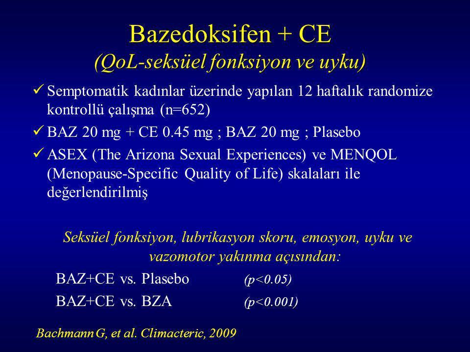 Bazedoksifen + CE (QoL-seksüel fonksiyon ve uyku)