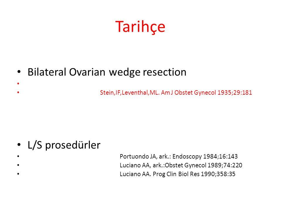 Tarihçe Bilateral Ovarian wedge resection L/S prosedürler