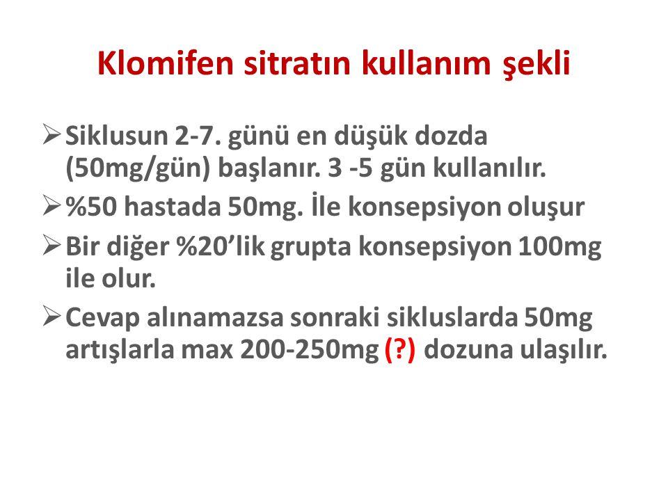 Klomifen sitratın kullanım şekli