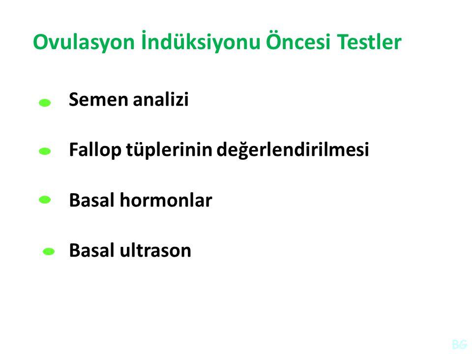 Ovulasyon İndüksiyonu Öncesi Testler