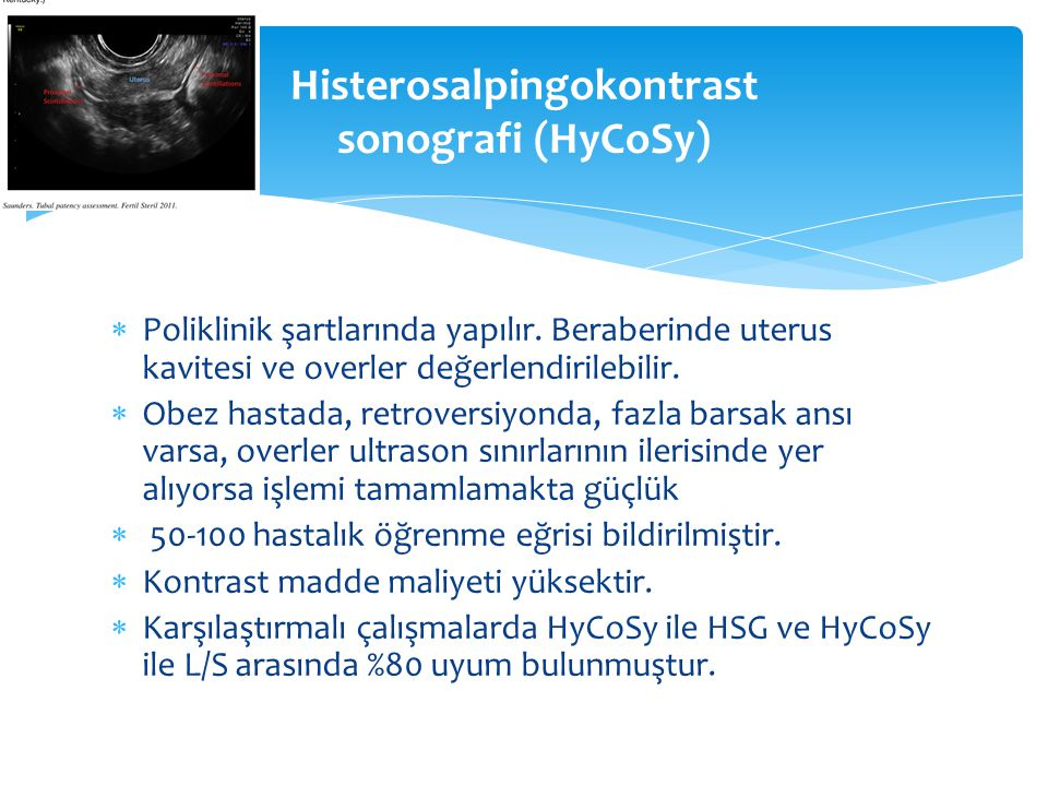 Histerosalpingokontrast sonografi (HyCoSy)