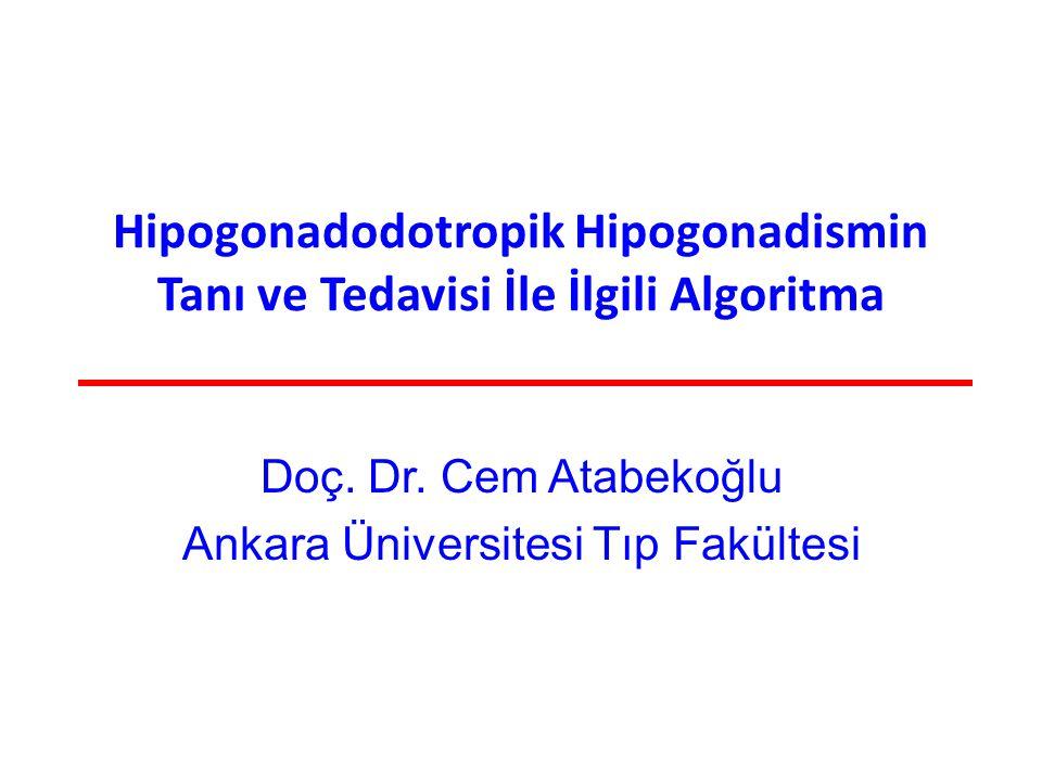 Doç. Dr. Cem Atabekoğlu Ankara Üniversitesi Tıp Fakültesi