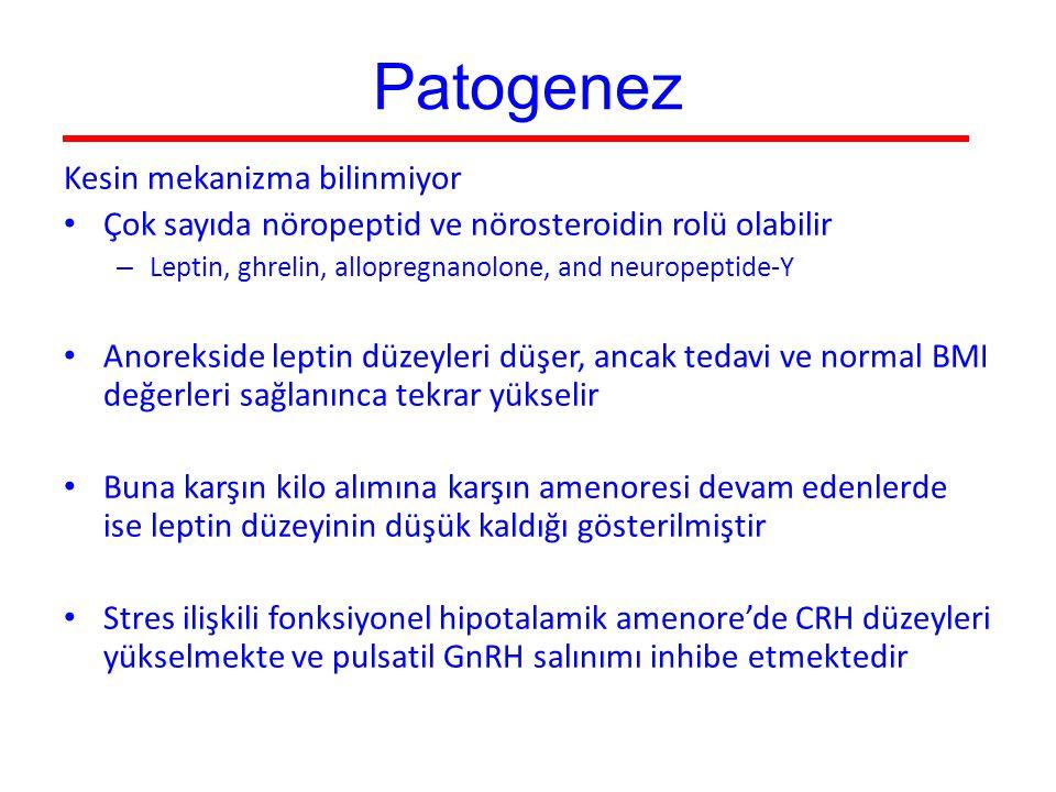 Patogenez Kesin mekanizma bilinmiyor
