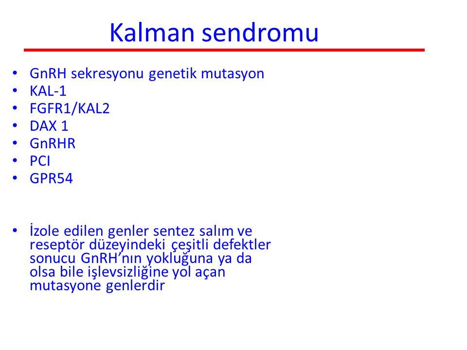 Kalman sendromu GnRH sekresyonu genetik mutasyon KAL-1 FGFR1/KAL2