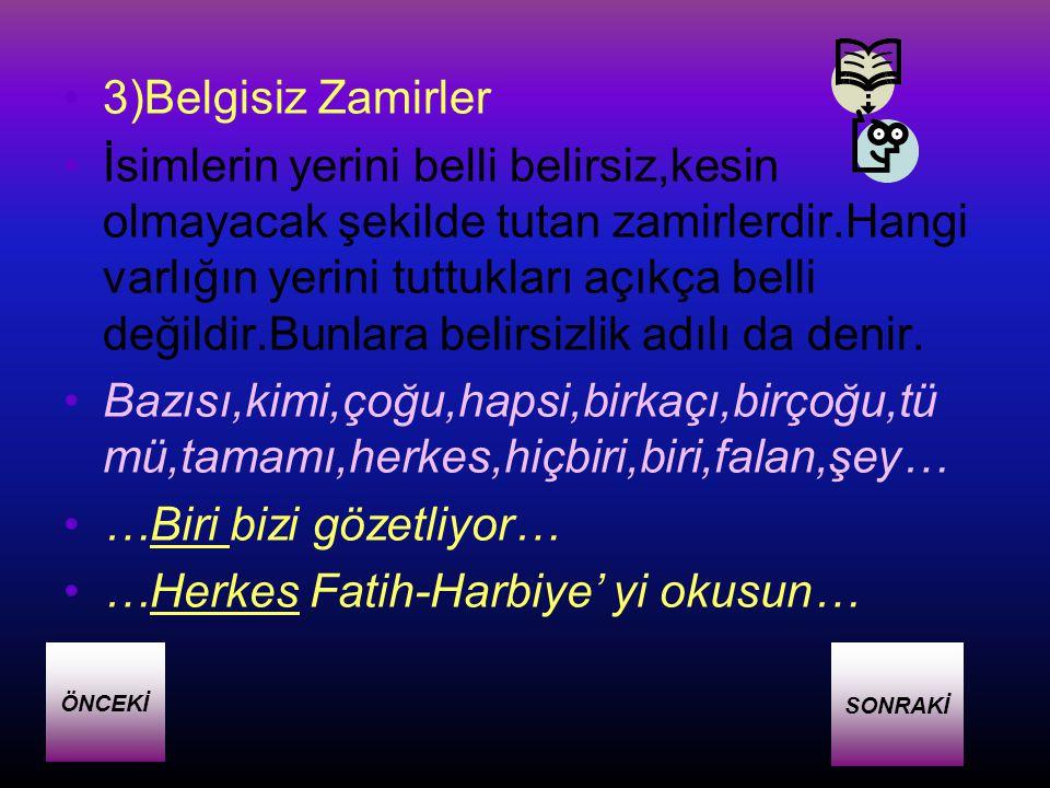 …Biri bizi gözetliyor… …Herkes Fatih-Harbiye' yi okusun…