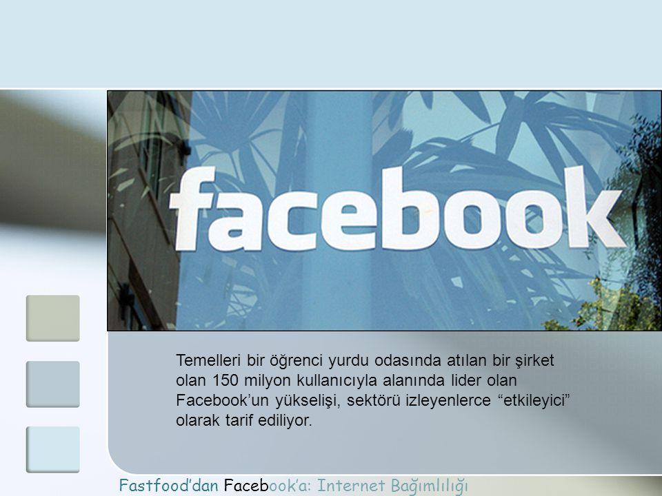 Temelleri bir öğrenci yurdu odasında atılan bir şirket olan 150 milyon kullanıcıyla alanında lider olan Facebook'un yükselişi, sektörü izleyenlerce etkileyici olarak tarif ediliyor.