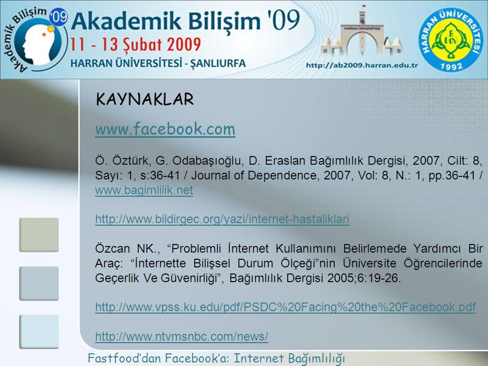 KAYNAKLAR www.facebook.com