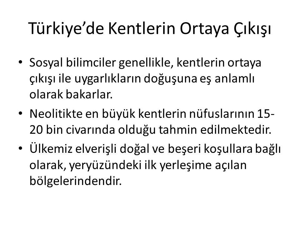 Türkiye'de Kentlerin Ortaya Çıkışı