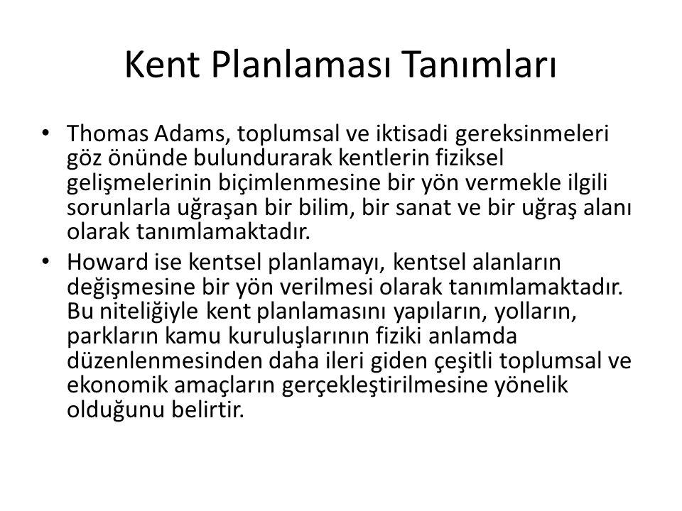 Kent Planlaması Tanımları