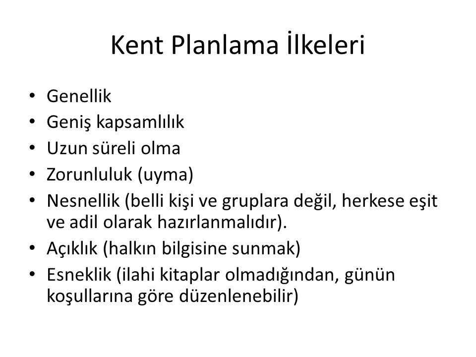 Kent Planlama İlkeleri
