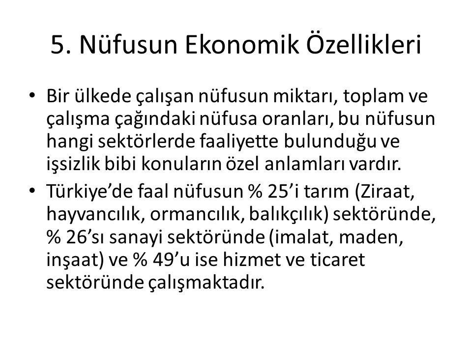5. Nüfusun Ekonomik Özellikleri