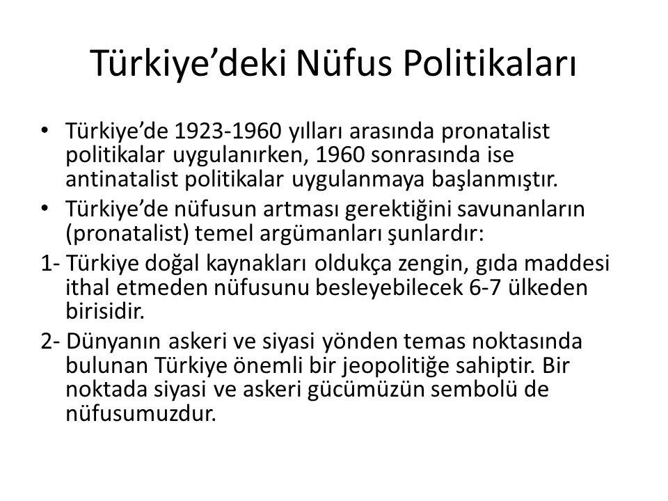 Türkiye'deki Nüfus Politikaları