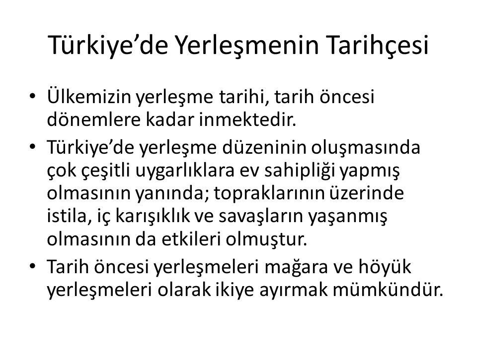 Türkiye'de Yerleşmenin Tarihçesi