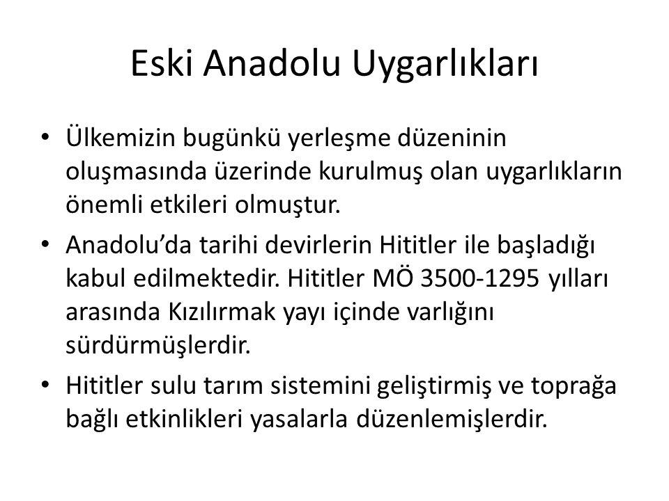 Eski Anadolu Uygarlıkları
