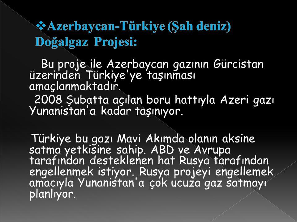 Azerbaycan-Türkiye (Şah deniz) Doğalgaz Projesi: