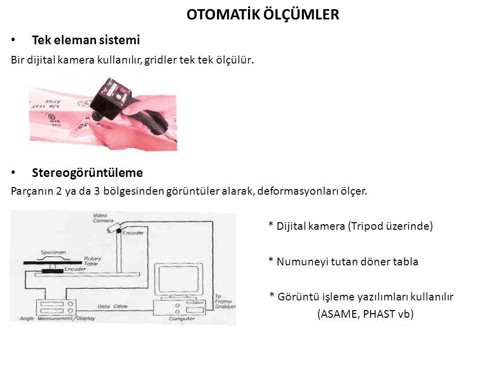 * Görüntü işleme yazılımları kullanılır